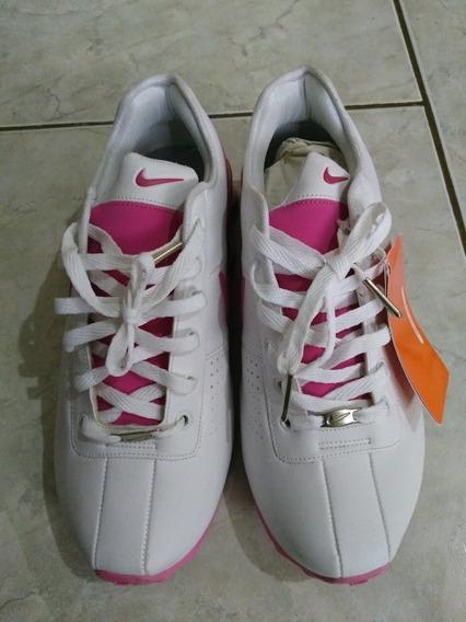 Tênis Nike Shox Branco Rosa