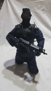 Muñeco Swat Con Accmuñeco