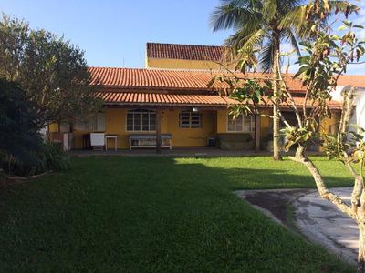 Casa Com Escritura Na Praia, Só 300 Metros Do Mar, 3 Quartos