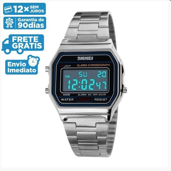 Relógio Unissex Skmei Digital 1123 - Prata Original