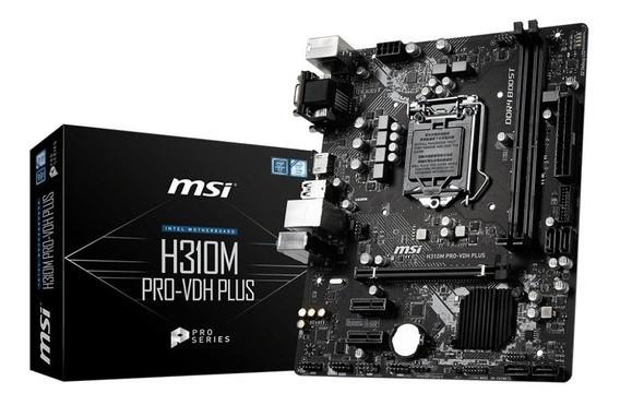 Mother Msi H310m Pro Lga 1151 Intel 8va Ddr4 Hdmi Usb 3.1