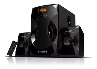Parlante Philips Multimedia 2.1 Mms4040f Fm 40w Usb Oferta