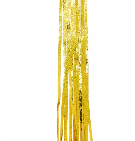 Lluvia Navidad Oro Gofrada 10 Cm X 1,5 Mts #207 X 5 Unidades