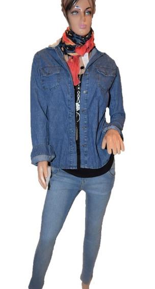 47 Street Camisa De Jean Con Capucha Color Gris