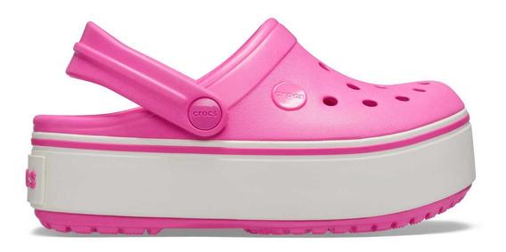 Zapato Crocs Dama Platform Clog Gs Rosa Fuerte
