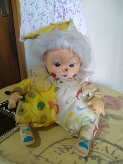 Lindo E Antigo Palhacinho Palhaco Boneca Brinquedo