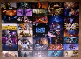 Blizzcon 2018 - Pôster Com Autógrafos Equipe Blizzard