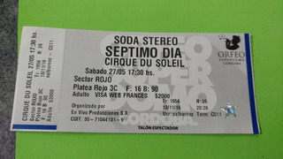 Soda Stereo Septimo Dia Cirque Du Soleil