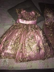 Vestido Infantil Aniversário Casamento Usado 1 Vez*