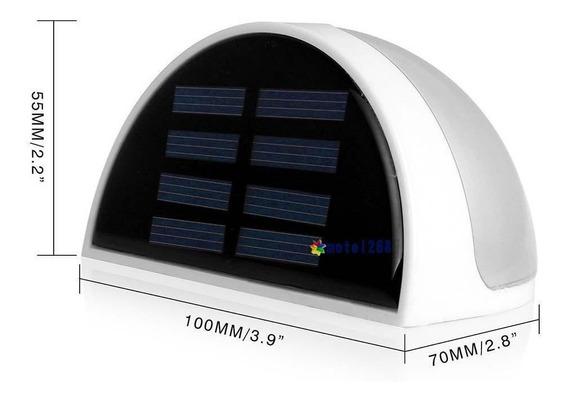 Kit C/3 Luminária Solar De 6 Leds P Escadas (completa)