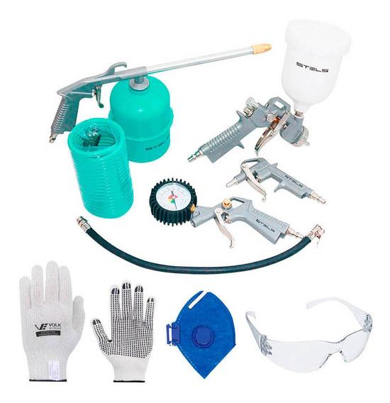 Jogo De Acessórios Stels De Compressor De Ar Com Kit Proteção