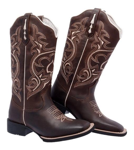 Bota Texana Country Couro Legitimo M2134