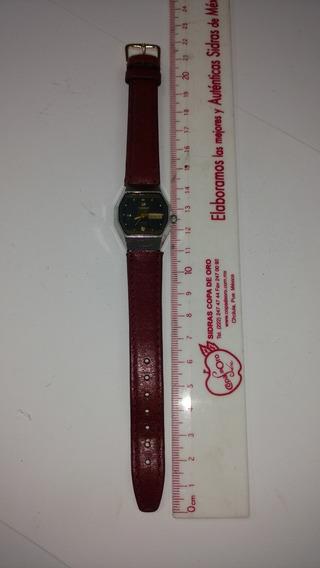 Reloj Citizen Automático Dama Vintage 80s Acero Inox Y Piel