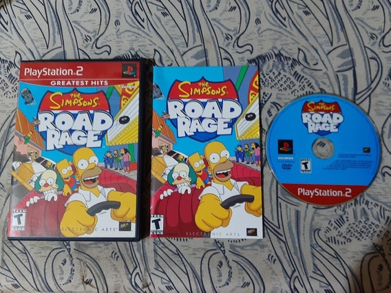 Play 2: Simpsons Road Rage Americano Completo! Jogaço! Raro!