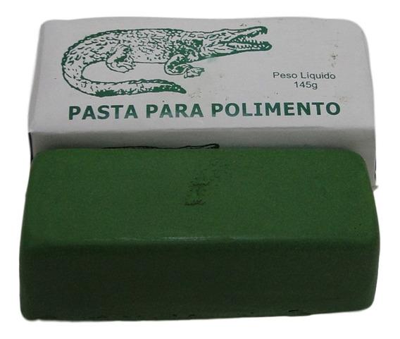 Pasta Barra De Polir Abrasiva Jacaré Verde Cromo