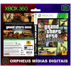 Gta San Andreas Xbox 360 Original - Mídia Digital