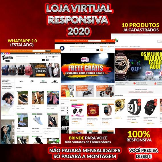 Loja Virtual 2020 Completa Drop + Brind Secreto. Entrega 24h