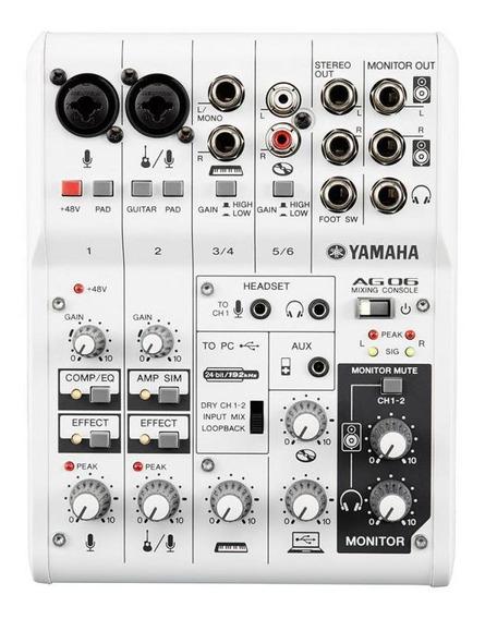 Mesa De Mixagem Yamaha Ag03 3 Canais Com Interface Áudio