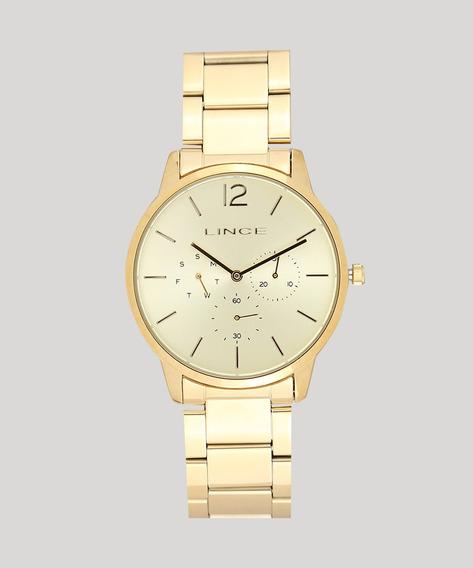 Relógio Lince Feminino Lmgj087l C2kx Multifunção Dourado