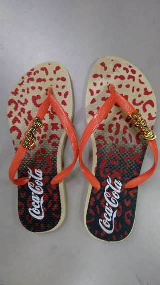 Coca Cola Kit Chinelos Com 10 Und