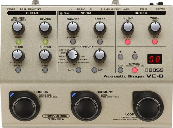 Pedal Boss Ve 8 Vocal Ve8 - Looper Original C/fonte