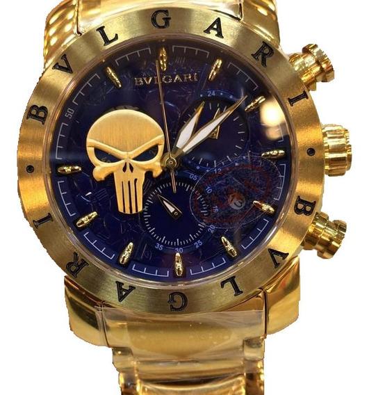 Relógio Bvlgari Vidro Safira Lançamento A Prova Dgua