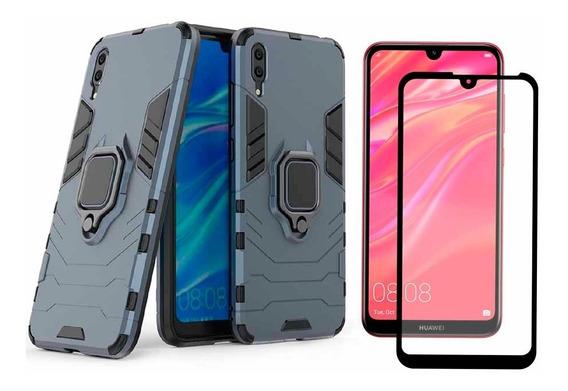 Funda Huawei Case Uso Rudo Protector Mica 5d