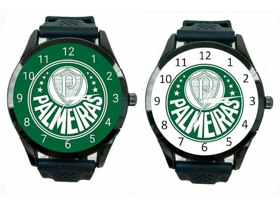 Kit 2 Relogios Personalizado Palmeiras Masculino De Pulso Futebol Club Novo Esportivo Escudo Jogo Time T234