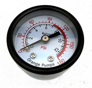 Manometro Hidroneumatico Compresor 0-180psi 5cm 1/4axial