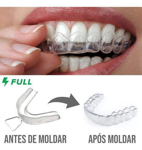 Protetor Bucal Anti Bruxismo Ranger Os Dentes Placa Moldável