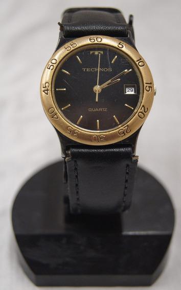 Relógio Technos Quartz Preto E Dourado Tec 965