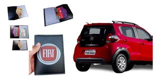 Carteiras Masculino Feminino Porta Documento Carro Rg Cnh Cédula Cartão Fiat Automoveis Personalizado