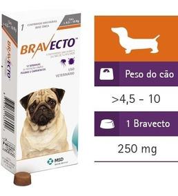 Bravecto Antipulgas E Carrapatos - Cães 4,5 A 10 Kg - 250mg