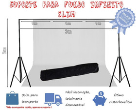 Suporte P/fundo Infinito 3m X 3m M+bag-slim