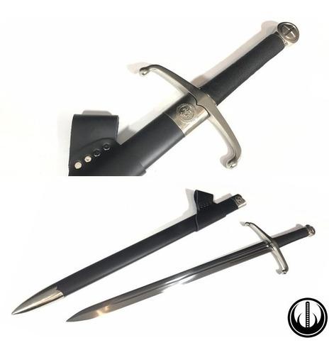 Imagem 1 de 10 de Espada Medieval Templário Funcional Afiada Corte Aço Carbono