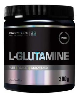 Glutamina Pura 300g - Probiótica L Glutamina Validade 11/20