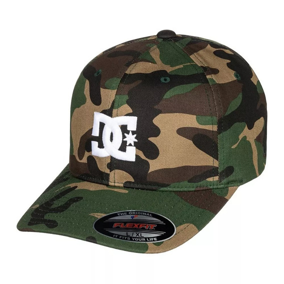Bone Aba Curva Dc Shoes Star 2 Original Flexfit Camuflado