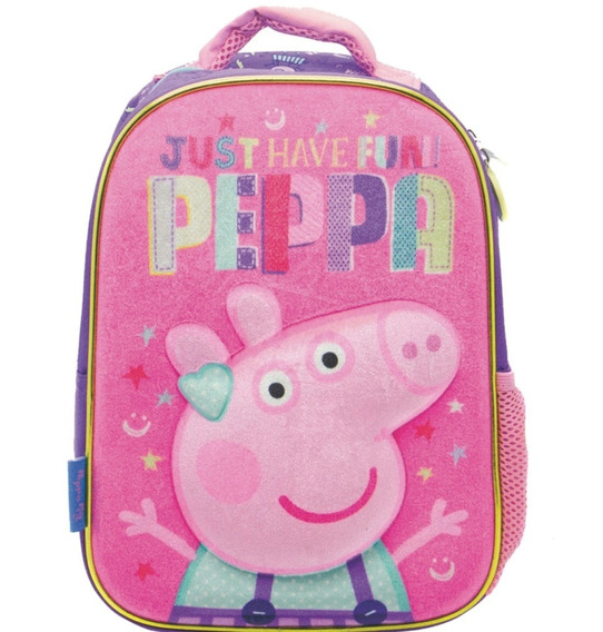 Mochila Escolar Peppa Pig 12 Pulgadas Jardin Original Pp036