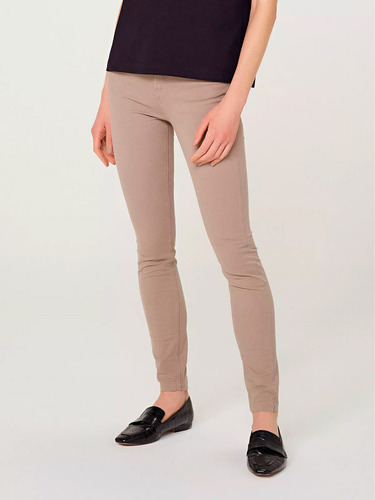 Pantalón Básico Femenino Skinny Cintura Alta - H96k