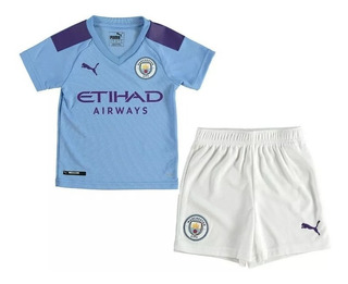 Conjunto Oficial Manchester City Infantil Modelo 2019