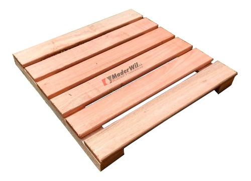 Imagen 1 de 8 de Combo X 10 Baldosas Deck Eucalipto  50 Cm X 50 Cm - Maderwil