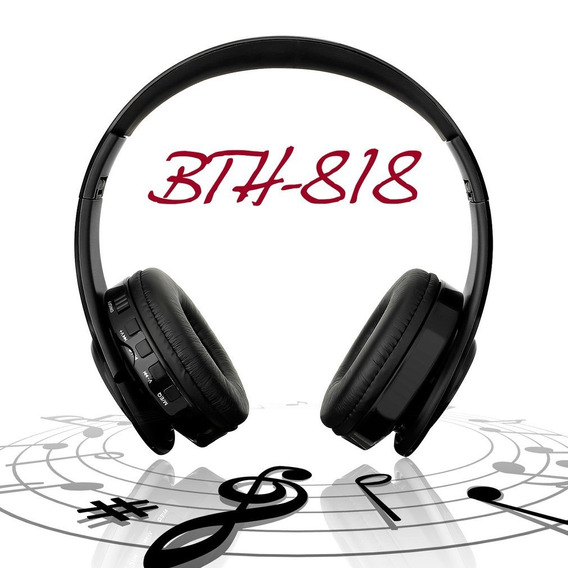 Bth-818 Dobrável Sem Fio Bluetooth Fone Fones De Ouvido Fone