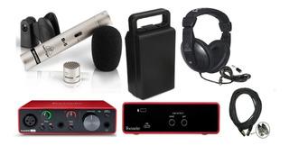 Focusrite Solo 3 Gen ,mic De Estudio B5 Y Hpm100 Behringer