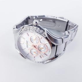 Relógio Orient Feminino Prata Rose
