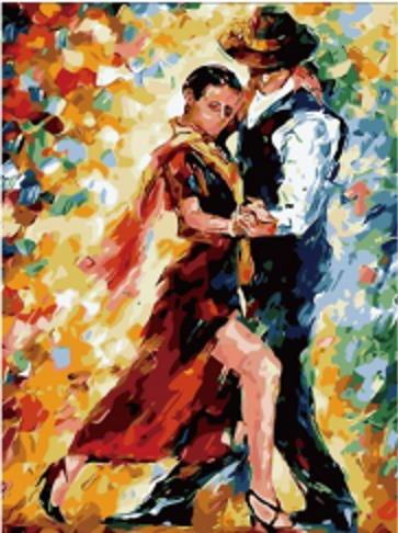 Pintura Numerada Casal Tango