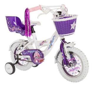 Bicicleta Raleigh Cupcake Nena Rodado 12 Violeta - Racer
