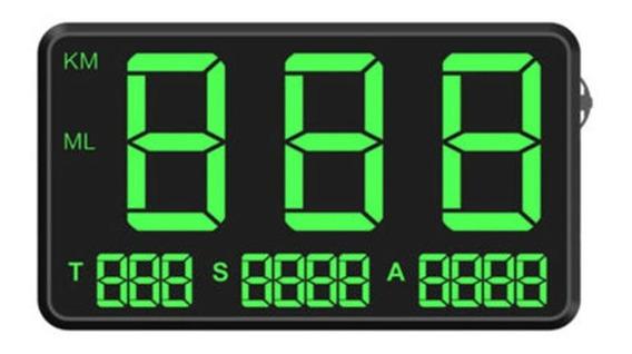 General Hud Head Display Gps Overspeed Alarme Quilometragem