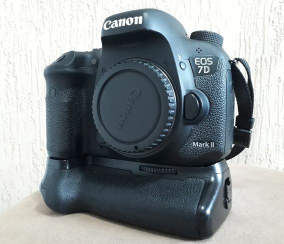Câmera Canon Eos 7d Mark 2 (corpo) + Grip Original Na Caixa
