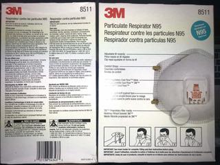 Mascarilla 3m N95 Coronavirus Virus Polvo Partículas 10 Piez