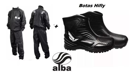 Traje Equipo De Lluvia Alba + Botas Hifly Rpm1240
